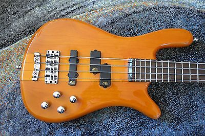 Warwick Streamer N71 4 string Bass Guitar and padded carrying case - As new
