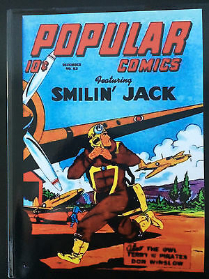 Popular Comics #82 REPRINT EDITION-OWL-TERRY & PIRATES-SMILIN' JACK Dec '42