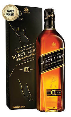 Johnnie Walker Black Label Scotch Whisky 1 Litre (Boxed)