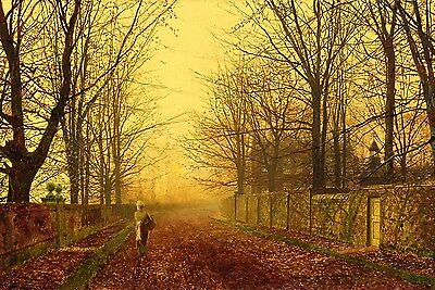 A Golden Idyll Painting by John Atkinson Grimshaw Art Reproduction