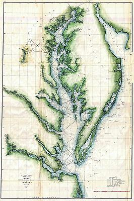 1859  US Coast Survey Chart or Map of the Chesapeake Bay