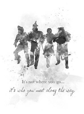 ART PRINT Wizard of Oz Quote, Wall Art, Home Decor, Movie, Gift, Black and White