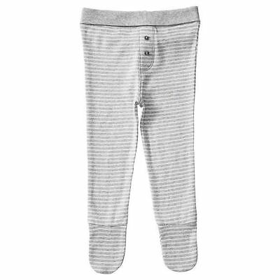 NEW Baby Organic Cotton Stripe Pants With Enclosed Feet