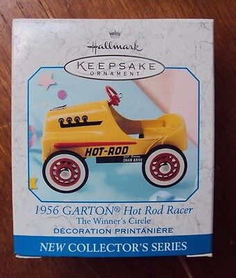 1998 Hallmark Keepsake 1956 Garton Hot Rod Racer - 1st In The Winners Circle Srs