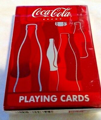 Factory Sealed - Bicycle Brand COCA-COLA Deck of Playing Cards. Plastic Coated.