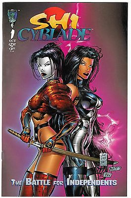 SHI/ CYBLADE: THE BATTLE FOR INDEPENDENTS #1 (Sept. 1995)/ Crusade Comics VF