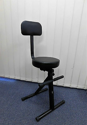 TWO (x2) Haze KB007 Adjustable Performance Stools w/Back Rest for Keyboard Etc.