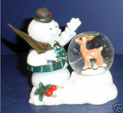 Enesco Rudolph Figurine- 725145- Sam Looking at Rudolph -New in Box-  RETIRED