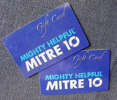 MITRE 10 Gift  Cards X 2 ~ Value $150 ~ Exp: 2/2/18 & 5/2/18 ~ Free Post