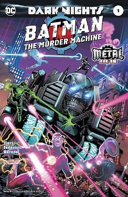 Batman The Murder Machine 1 Foil Stamp Cover Nm Metal Tie In Sold Out
