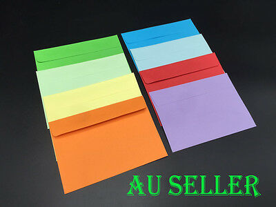 Bulk 25-100pcs Coloured Envelopes For Wedding Party Invitation Cards 8 Colours