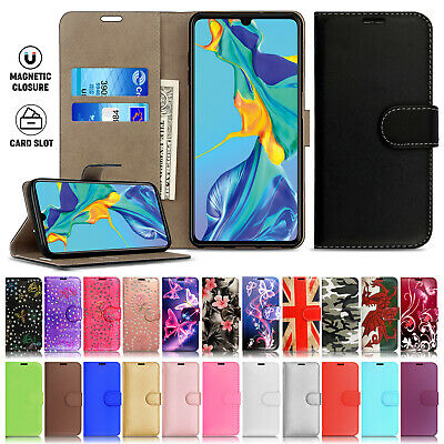 Case Cover For Huawei P30  P20 Pro Lite 7S Y6 2019 Magnetic Flip Leather Wallet