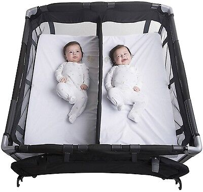 Baby Twin Nursery Center Bassinet Changing Table Twins Removable Center Divider