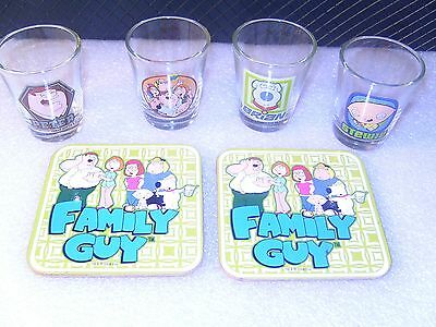 Family Guy Shot Glasses & Coasters
