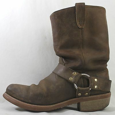 Men's Dingo Size 10D Distressed Brown Leather Motorcycle Boots