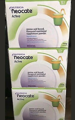 Neocate Active  Powder Unflavoured x3 boxes Expiry 08/2018