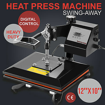 "12"" x 10"" Clamshell Heat Press Transfer Digital Sublimation Machine T-shirt"
