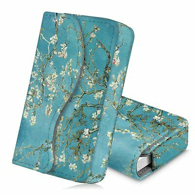 Business Card Holder Name Card Wallet Case Organizer Magnetic Closure- Blossom
