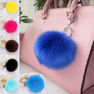 Pompon Lovely Ball Fur PomPom For Cell Phone Car Keychain Key Ring Pendant Bag
