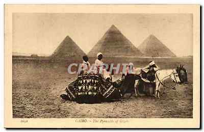 CPA Egypte Egypt Cairo The Pyramids of Gizeh