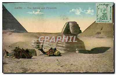 CPA Egypte Egypt Cairo The Sphinx and Pyramids