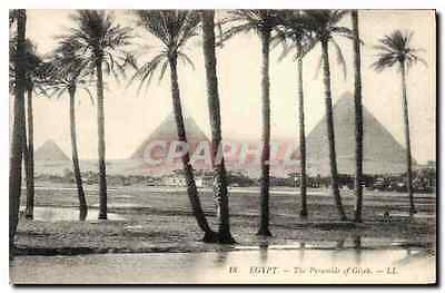 CPA Egypt Egypte The Pyramids of Gizeh