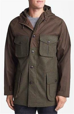 New $398 Pendleton Usa Meriwether Parka Jacket Waxed Cotton Brown/green Xs