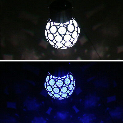 IP55 Automatic LED Ball Solar Lights Rotatable Outdoor Garden Camping Hanging