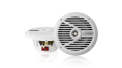 "Alpine SPS-M601W 6.5"" 2 Way Coaxial Marine Speaker (White)"
