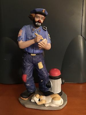 Emmet Kelly Jr Policeman Flambro Statue Clown Collectible BRAND NEW WITH BOX