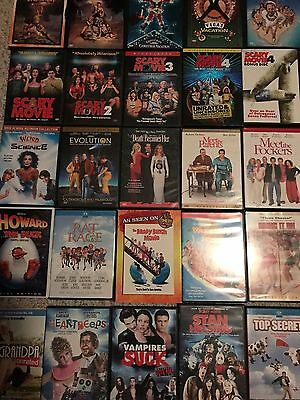 HUGE!!! LOT 130+ movies DVDs, Blu-Ray COMEDY, SPOOF, Scary Date Epic Movie Funny