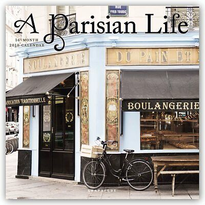 Parisian Life 2018 Square Wall Calendar by Graphique, NEW, Free Post