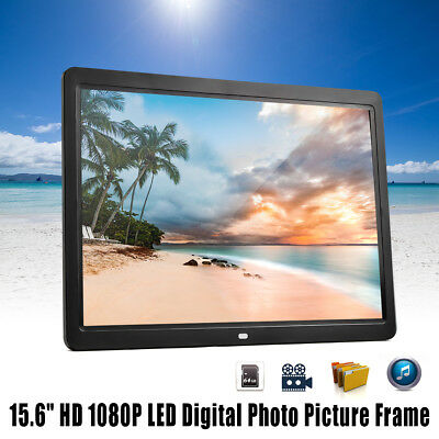 AU ! 15.6'' HD 1080P LED Digital Photo Picture Frame Movie Player Remote Control