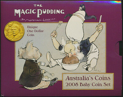 Australia 2008 Magic Pudding Baby Uncirculated Set Cat $ 45 SCARCE!!!
