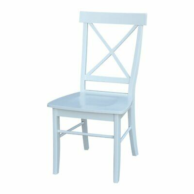 Superb International Concepts X Back Dining Chair In White Set Of Ibusinesslaw Wood Chair Design Ideas Ibusinesslaworg