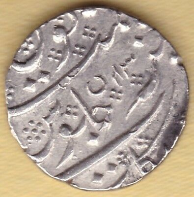 French India Silver One Rupee Arkot Mint In The Of Shah Alam Ii Ry43 Ah1218 #k60