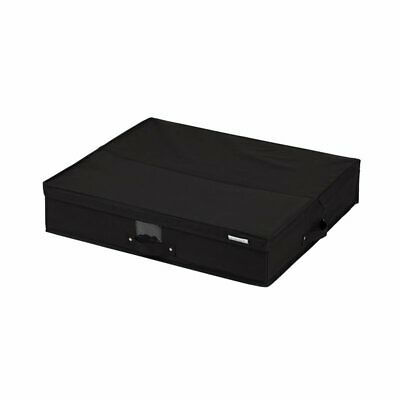 South Shore Storit Canvas Underbed Storage Box in Black