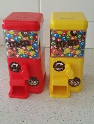 M&M'S Yellow and Red Mini Square Dispenser 2016 used once