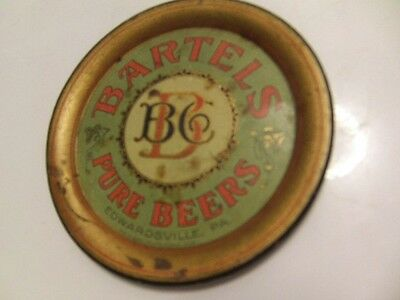 Bartels beer VERY RARE tip tray Edwardsville PA