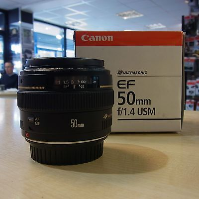 Used Canon EF 50mm f1.4 USM lens - 1 YEAR GTEE