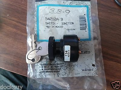 NEW MERCURY/QUICKSILVER IGNITION SWITCH PART# 54212A 9 NOS with 2 keys