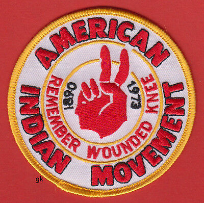 American Indian Movement Aim Remember Wounded Knee  Patch