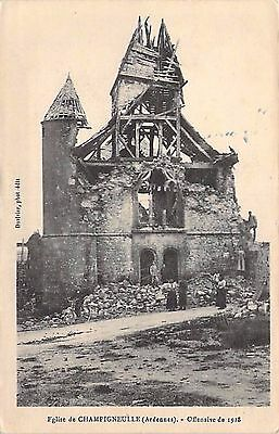 CHAMPIGNEULLE - ARDENNES - Eglise - Offensive 1918 - RUINES
