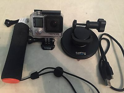 GoPro HERO 4 Digital Camcorder - Silver with 64gb microSD and accessories