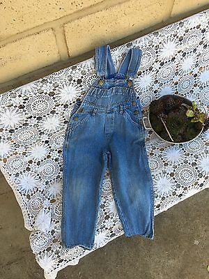 Unisex Boys Girls Kids Denim Overalls Dungarees Dennis The Menace Size 4
