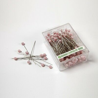 Pearl Head Pins Large Pink florists corsage buttonhole 6.5cm Box of 144
