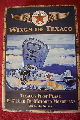 ERTL Collectable Die Cast Wings Of Texaco 1927 Ford Tri-Motored Monoplane Bank