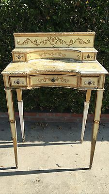Vintage Gilded Florentine Writing Table / Vanity