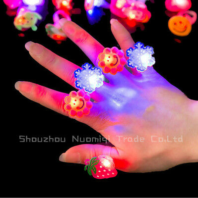 10PCS Random Cartoon Glowing Flashing LED Light Finger Toys Jewelry Party Gift