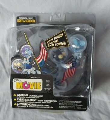 Presidential Politics Itchy & Scratchy Mcfarlane figure 2007 Simpsons Movie